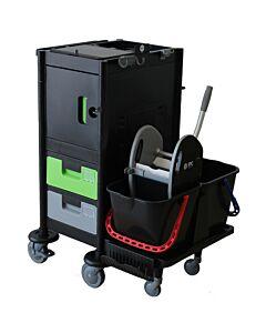 Brix Office Black is Green Reinigungswagen