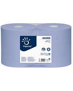 Papernet Superior Blue, 3-lagig, 37, 6 x 36 cm, 500 Blatt, Wischtuchrolle