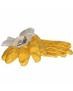 Nitrilhandschuh gelb, teilbeschichtet mit Strickbund