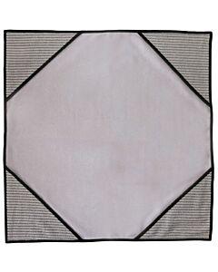 Unger ErgoTec Ninja MicroWipe, grau, 40 x 40cm, Tuch mit Infokarte