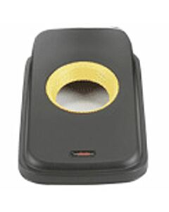 Vileda Geo Deckel mit runder Öffnung, schwarz/gelb Abfalltrennsystem