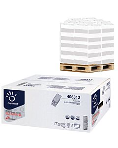 Papernet  W SUPER TRIO, V-Falz, 3-lagig, Blattgröße 22 x 32 cm, 2.300 Blatt, Handtuchpapier - Palette