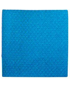 Schwammtuch, trocken, Größe 1, 19 x 21 cm blau