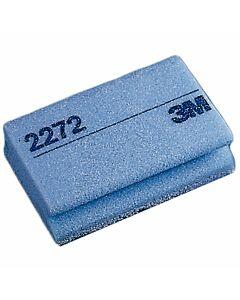 3M Reinigungsschwamm, weiß/blau, mit Griffrille,
