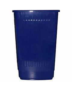 Papierkorb eckig, 25 Liter, blau