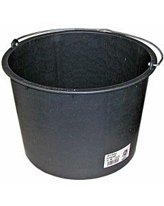 Nölle Baueimer 12 Liter, schwarz, flach
