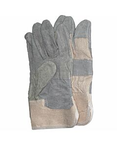Rindspaltleder-Handschuh, grau