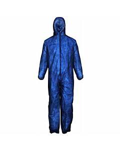 Overall blau mit Kapuze, Größe XXL, einzelverpackt