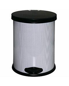 Treteimer 12 Liter Metallgehäuse mit Kunststoffeinsatz