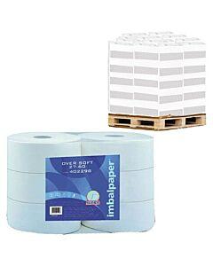 Toilettenpapier Werra Over Soft Jumbo Maxi 250, 2-lagig, Tissue - Palette