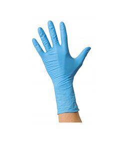Einweghandschuh MaiMed Nitril long, puderfrei, blau, Größe M, 100 Stück