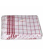 Geschirrhandtuch Dessin 1221 rot/weiß, 50 x 70 cm